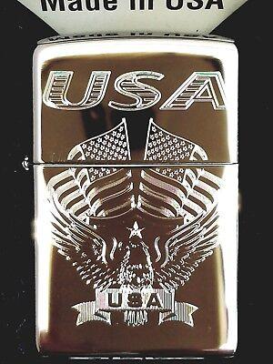 Zippo 250 Eagle Flag USA 250-03199