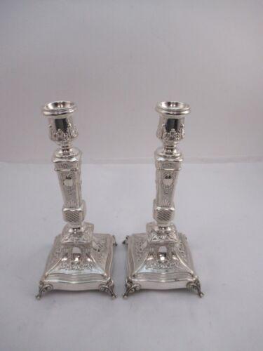 "Sterling Silver 925 Candlesticks 345 grams 8 3/4"""