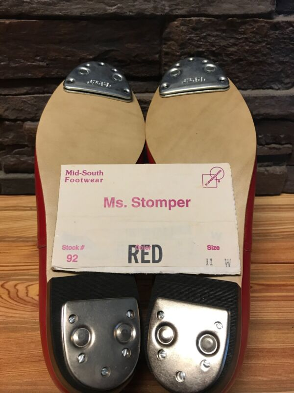 Ms. Stomper Size 11 W (WIDE) WOMENS Clogging Shoes,With Steven Stomper Taps