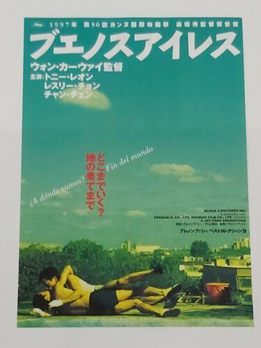 "Leslie Cheung ""Happy Together"" Wong Kar-Wa 1997 Original Japan mini Poster"