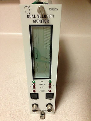 Bently Nevada 3300 System Dual Velocity Monitor 330055