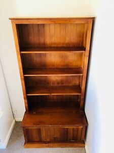 Bookshelf Solid Wood With Storage Box