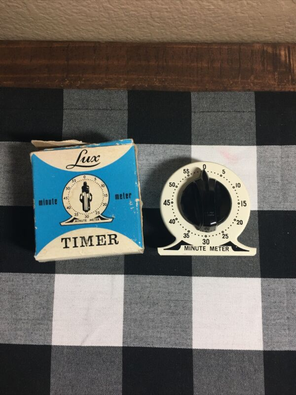 VTG LUX Minute Meter Timer By Robertshaw Control Company Box & Assembly Sticker