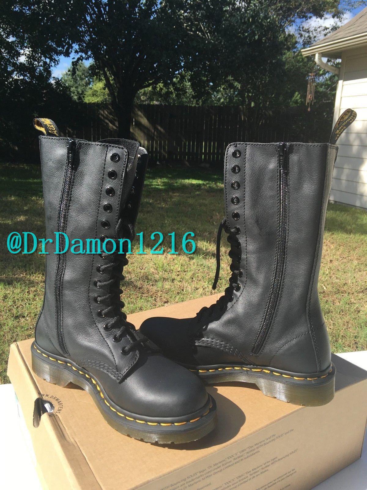 4f5ebc22f44 NIB Dr. Martens Women's 1B99 14 Eye Boot Virginia Soft Leather Black $170