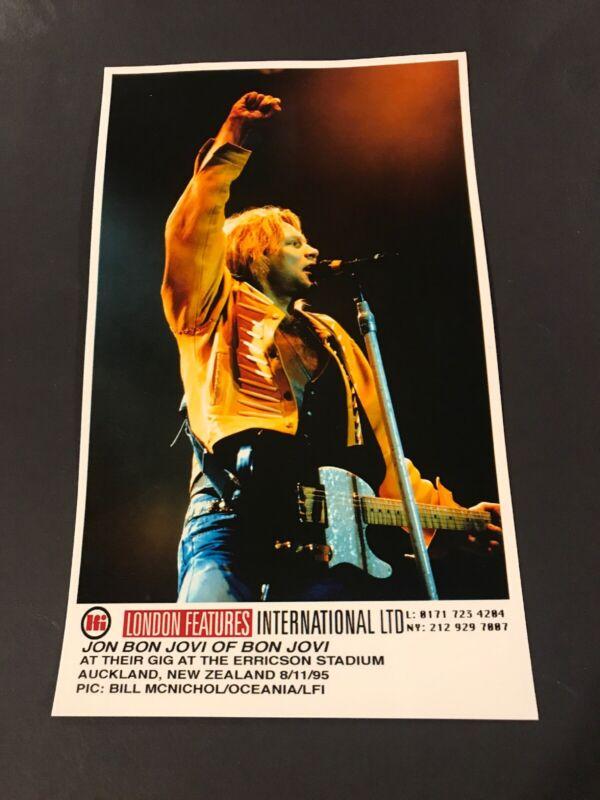 "John Bon Jovi Of  Bon Jovi  5 X 8 1/4"" Vintage Original Color Photo 1995"