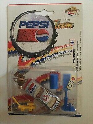 Pepsi Team Golden Wheel Die Cast Pit Crew Never Opened On Card Rare Pepsi Cola