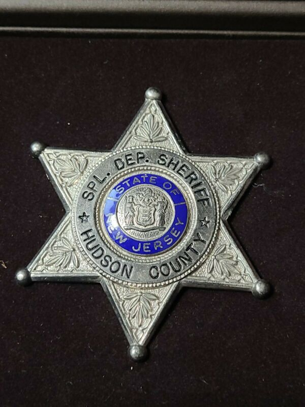 Vintage Obsolete 1900s Special Dep. Sheriff Hudson Co. NJ Pc