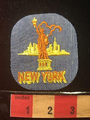 Vtg Denim New York City Statue Of Liberty Usa Patch 66K2