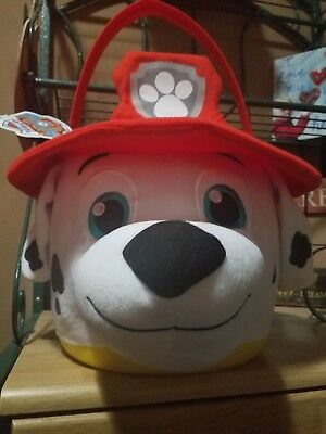 "Paw Patrol Fireman Dog huge Easter/ Halloween Basket Plush! 15"" Toy Lovey Candy"