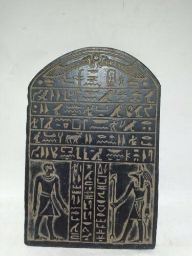 RARE ANTIQUE ANCIENT EGYPTIAN Stela Scarab Protect God Anubis 1385-1349 Bc