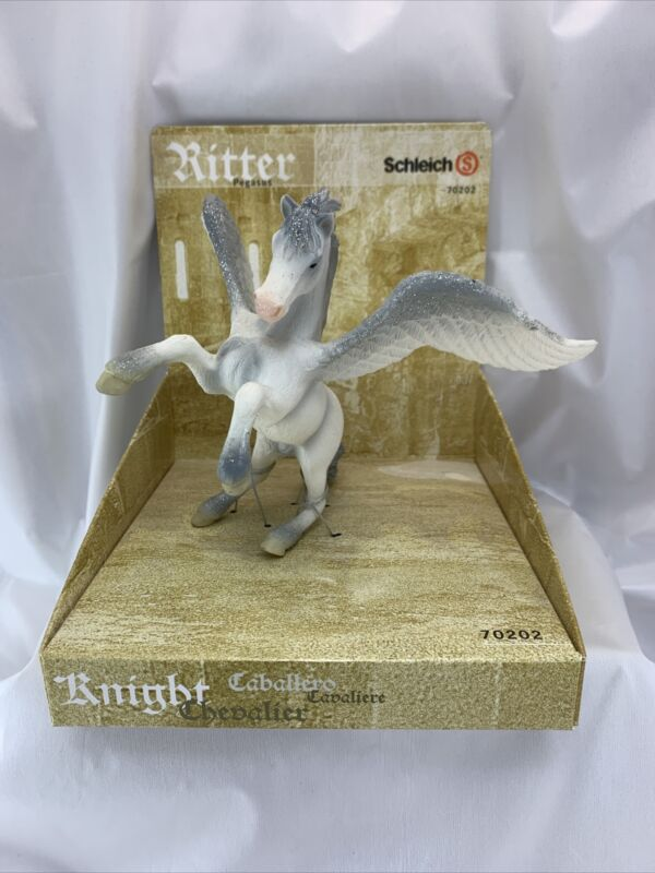 Schleich Ritter Knight Rearing Pegasus 70202 Glitter Wing Stallion Fantasy White