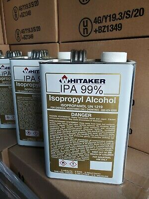 Isopropyl Alcohol 99 4 Gallon Case Solvent  Free Fast  Shipping Amrican 100