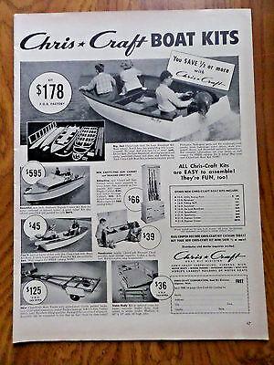 1952 Chris Craft Boats Ad  Boat Kits