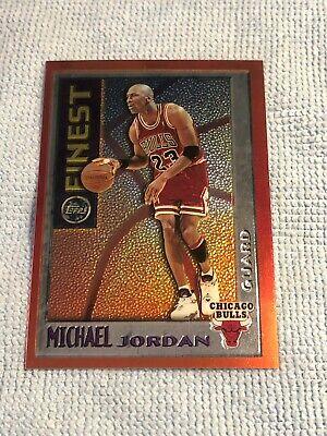 1995/96 TOPPS MYSTERY FINEST MICHAEL JORDAN ORANGE BORDER M1 Mint Chicago Bulls