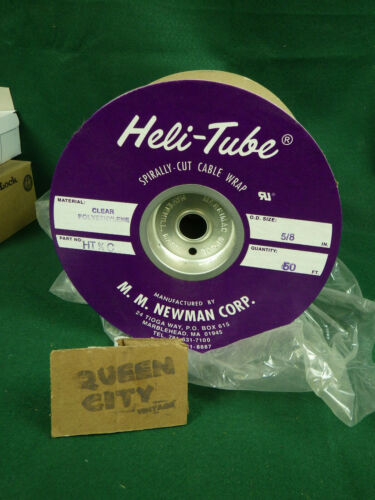 """Partial Roll Heli-Tube clear spiral plastic tube/loom/cable wrap 5/8"""" dia 40"""