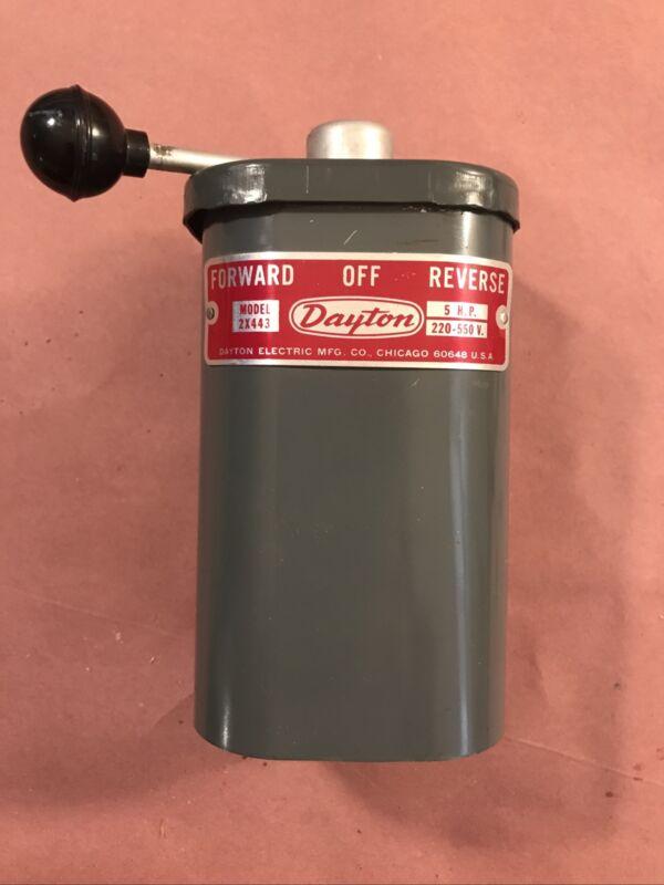 Dayton 5 HP On Off Forward Reverse Switch Lathe Shaper Atlas South Bend Vintage
