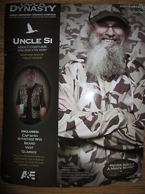 Mens DUCK DYNASTY UNCLE SI redneck Halloween Costume sz age 14+ by Incharacter](Duck Dynasty Si Halloween Costume)