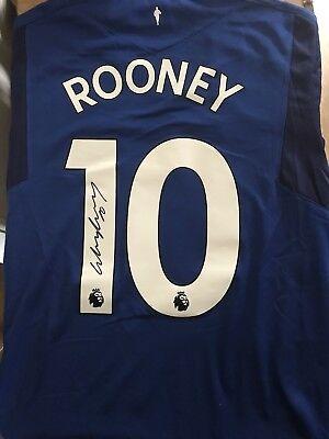 WAYNE ROONEY HANDSIGNED EVERTON SHIRT Signed 20/10/17 £125