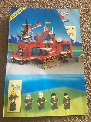 Lego 6389 Town City Classic - Fire Control Center Manual Instructions Only