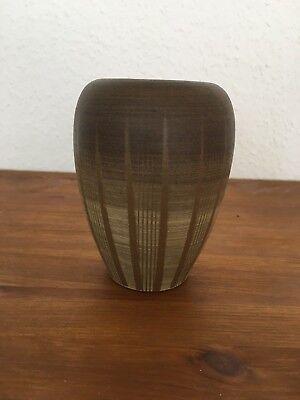 Keramikvase Ritzdekor Erhard Goschala Meuselwitz Studiokeramik DDR 13 cm