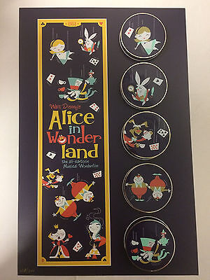 Disney HK Acme HotArt Alice in Wonderland 5 Pin & Litho LE 300