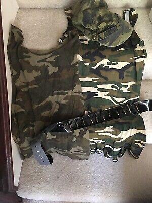 4-PC ARMY CADET MILITARY CAMO DRESS sexy HALLOWEEN COSTUME TEEN  Girl Sz - Sexy Camo Kostüm