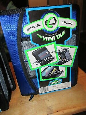 Case It Mini Tab 3 Ring Binder 1 Capacity W Zip Pocket 5 Tab Sect You Choose