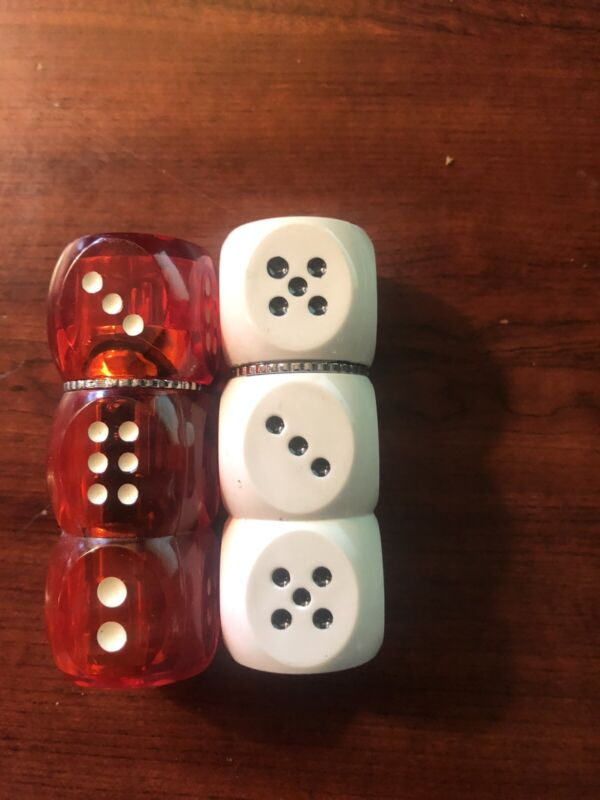 Set of two  Gambling lighter STACKED dice casino cigarette