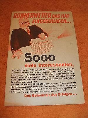 alte Original Werbung Reklame Plakat Poster Prospekt Adressen - Müller Dresden