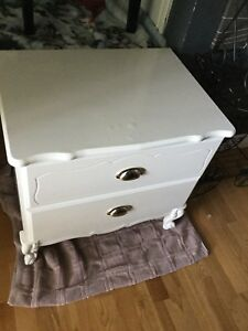 Single white imperfect bedside table