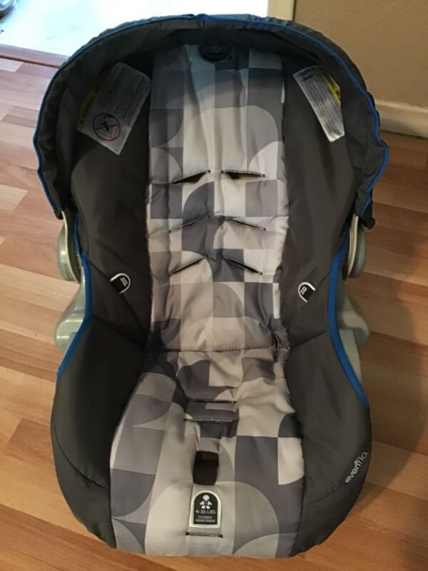 EVENFLO Embrace Baby Car Seat Cover Cushion Canopy Part Replacement Silver Gray