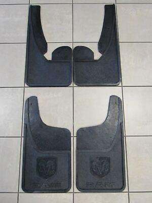 DODGE RAM FRONT/REAR Heavy Duty Rubber Mud flaps w/o Fender Flares NEW OEM MOPAR