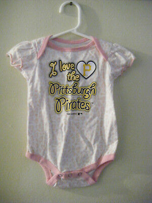 MLB Pittsburgh Pirates Bucs Baseball Infant Baby Body Snap Suit 12 Months Pink Baseball Infant Bodysuit