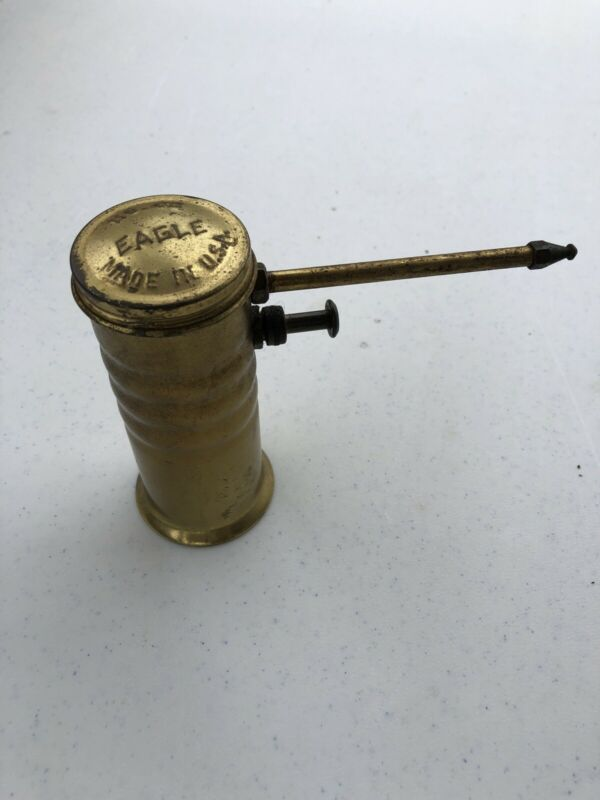 VINTAGE EAGLE NO.66 OIL CAN, FINGER PUMP