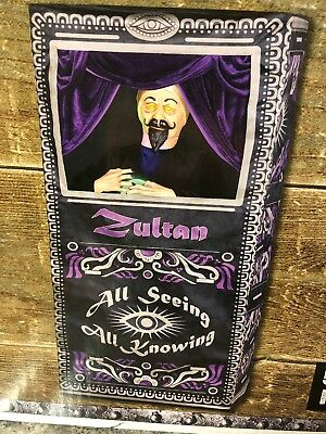 Life Size ZULTAN ANIMATED FORTUNE TELLER ARCADE Halloween Gemmy New 2018 Lighted - Gemmy Halloween Life Size