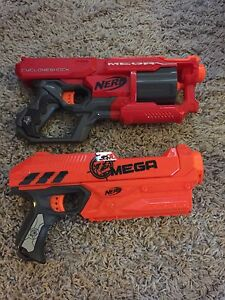 Two NERF blasters