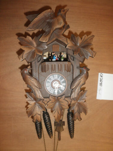 Cuckoo Clock German Black Forest working SEE VIDEO Musical  1 Day CK2640