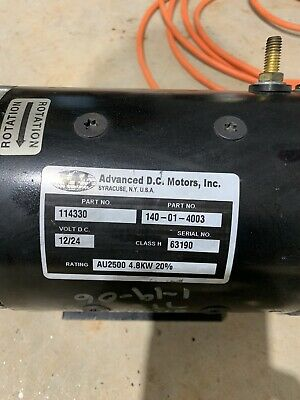 Cr-114330 Motor 24 Volt Crown Forklift Used Parts