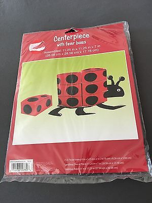 Ladybug party supplies Centerpiece with 12ct. favor boxes new Sealed - Ladybug Centerpieces