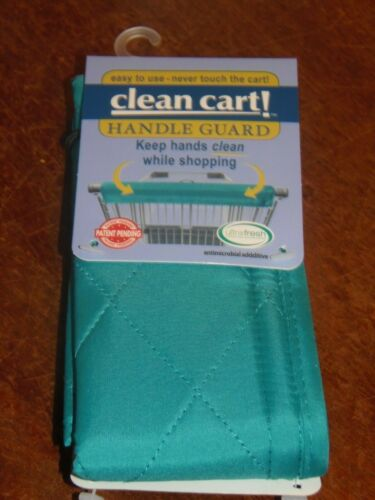TEAL Clean Shopping Cart Handle Guard Reusable Cover Washable Wipeable. (PO-1)