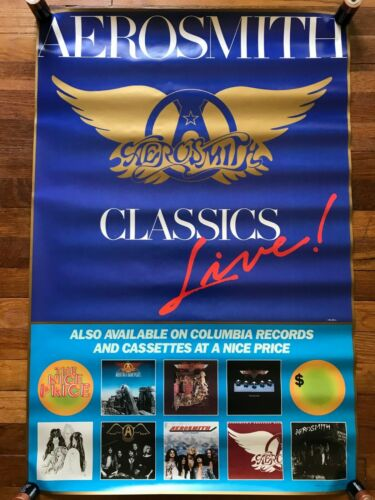 Aerosmith Classics Live RARE original promo poster 1986