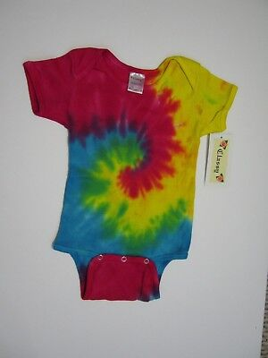 Tie Dye infant baby t-shirt one piece romper snap suit cute tye dyed 24 MONTH - Infant Snap T-shirt