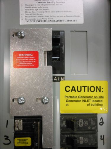 GE-200VL General Electric Generator interlock kit Vertical throw Main 200 amp