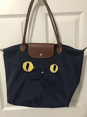 a06cdbcee76a Authentic Longchamp Le Pliage Miaou Cat Shoulder Tote large Bag Limited  Edition