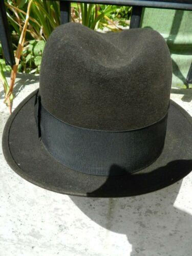 """VINTAGE ,STETSON..""""STETSONIAN"""", DARK BROWN HAT,SIZE 7 3/8,SILK LINED,"""