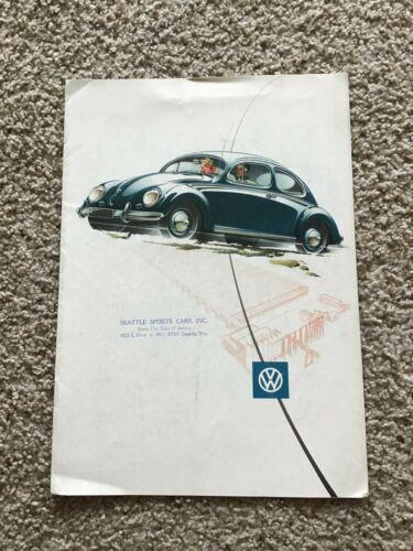 1954  VW Beetle  original dealership color sales catalogue.