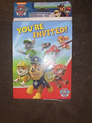 Paw Patrol Party Invites (Paw Patrol Birthday Party Invitation And Thank You)