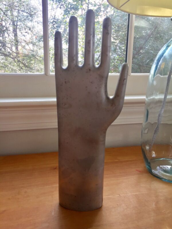 Vintage Industrial Aluminum Hand - Glove Mold - Great Patina - Free Shipping!
