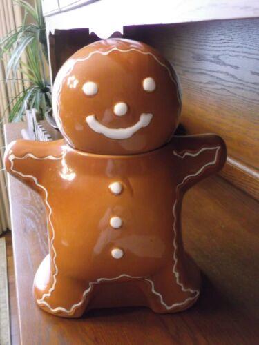 Hartstone USA Gingerbread Man Cookie Man Stoneware Pottery Cookie Jar