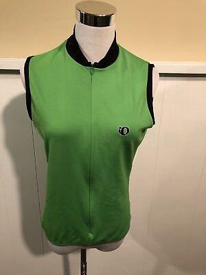 Used Womens Pearl Izumi Green Mountain Bike Race Sleeveless Cycling Jersey Sz L